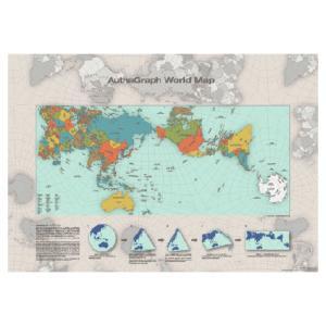 AuthaGraph World Map ポスター 世界地図ギフト プレゼントインテリア|bricbloc