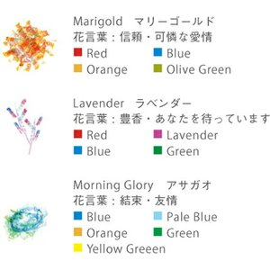 AOZORADot Flowers Crayon [ドットフラワーズクレヨン]ステーショナリーモザイク状の美しいクレヨンギフト プレゼント文房具|bricbloc|06