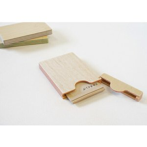 PAPER-WOOD CARD CASE ペーパーウッドカードケース 名刺入れ フルスイングギフト プレゼントステーショナリー|bricbloc