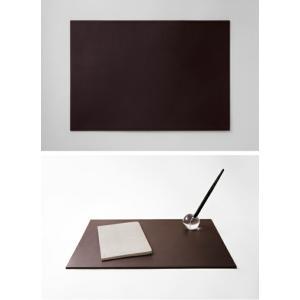 Leather Desk Mat S レザーデスクマットSサイズ ブラック ダークブラウン送料無料ステーショナリーインテリアギフト プレゼント|bricbloc