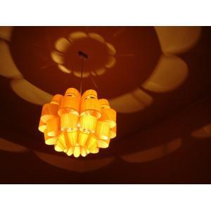 P.P. WOOD SHADE DON2-W どん2-ウッド 照明作家 谷俊幸 デザイナーズ照明 ペンダントライト ポリプロピレンリビングダイニング桜突き板花の形や色々な表情|bricbloc