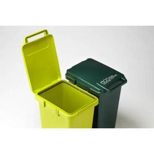 コンテナスタイル45J ダストボックス エコグリーン3色のゴミ箱 ダークグリーン連結仕様ジョイントキッチン周りリビングダイニング|bricbloc