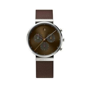 Jacob Jensen ヤコブ イェンセン メンズウォッチ クロノ レザー 腕時計 プレゼント ギフト美しいクロノグラフスイス製の高性能ムーブメントリストウォッチ|bricbloc