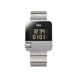 BRAUN ブラウン デジタルウォッチ BN0106 シルバー 腕時計 送料無料 受注生産ギフト プレゼントカレンダー アラームレッドドットデザイン賞|bricbloc