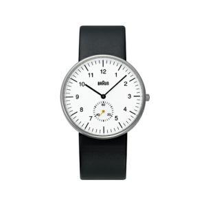BRAUNブラウン メンズウォッチ BNH0024/ レザー WH/BK 腕時計ギフト プレゼント男女兼用フォーマル・カジュアルリストウォッチ|bricbloc