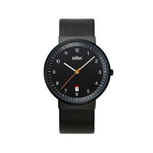 BRAUNブラウン メンズウォッチ BNH0032 ステンレスメッシュ ブラック 腕時計 ギフトフォーマル カジュアルリストウォッチシリーズステンレスメッシュバンド|bricbloc