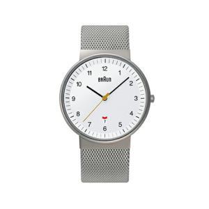 BRAUNブラウン メンズウォッチ BNH0032 ステンレスメッシュ ホワイト 腕時計 ギフト プレゼントフォーマル カジュアルリストウォッチシリーズ|bricbloc