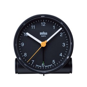 BRAUNブラウン アラームクロック BNC001 ブラック ホワイト置時計インテリアギフト プレゼントラウンドシェイプトラベルクロック|bricbloc