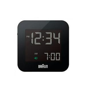 BRAUN ブラウン アラームクロックBNC008 ブラック ホワイト 電波時計インテリアギフト プレゼント照明・スヌーズ|bricbloc