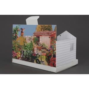 Postcarden ポストカーデン菜園箱庭づくりポストカードギフトプレゼントグリーティングカードステーショナリー定形外郵便物立体ガーデンクレソン|bricbloc
