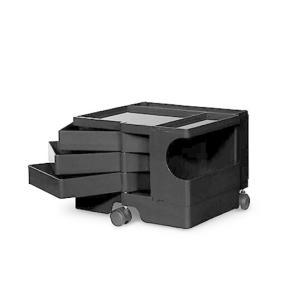 ボビーワゴン 1段3トレイ ブラック ジョエ コロンボ イタリア MoMAパーマネントコレクション多機能ワゴン収納家具インテリアキャスター付ワゴン bricbloc