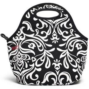 125091BUILT/BLT ゴウメットバッグ DBWDamask Black&White ランチバッグ 保温保冷スタイリッシュのバッグアウトドアインテリア雑貨ランチタイム|bricbloc