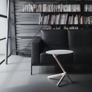 DUENDE/デュエンデ TRE White Blackサイドテーブル軽家具デザイナーズ家具インテリアリビング送料無料スチール|bricbloc