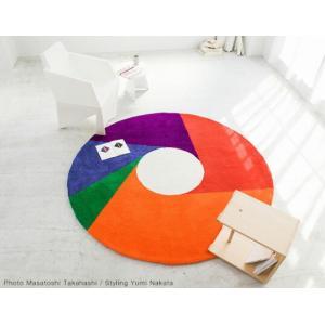 Max Bill/マックス ビル ラグ カラーホイール1600mm カーペット ラグ インテリア リビング アクリル糸 床暖房ホットカーペット対応 日本製 グラフィックアート|bricbloc