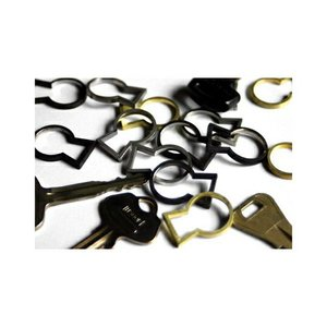 Keyhole シルバー キーリング MicroWorks|bricbloc