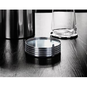 stelton/ステルトンAJグラスコースター 6Pセットアルネ ヤコブセン薄い正円型のコースター6枚セットシリンダラインロングセラーシリーズインテリアキッチン用品|bricbloc