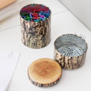 Wood Stacking Tinウッドスタッキングティンウッドプリントのスタッキングボックスインテリアステーショナリー小物入れKIKKERLAND / from U.S.A.|bricbloc