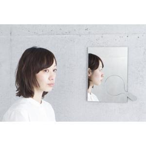 Jump Out Mirror Square 四角 ウォールミラー MicroWorks 手鏡の置き場 鏡面同化送料無料インテリア壁面鏡 手鏡ギフト プレゼント|bricbloc
