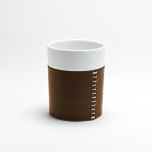 vestino CHOCOカップ 湯のみ革カバーキッチン用品インテリア磁器ギフト プレゼント224porcelainダイニング陶磁器・肥前吉田焼 bricbloc