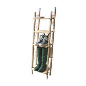abodeLADDER RACK - Single折畳みできるラックリビングラックデザイナーズ家具送料無料インテリア店舗什器収納家具本 雑誌 靴 ブーツ|bricbloc