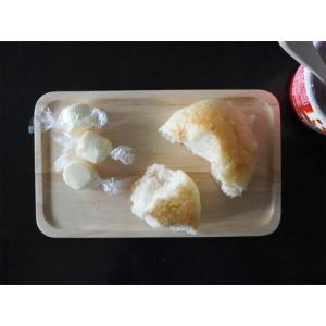 ACACIA WOODEN PLATE Sサイズ ホワイトウッドトレーペントレーコイントレースタッキングインテリアキッチン用品カフェおやつ木目の風合い|bricbloc