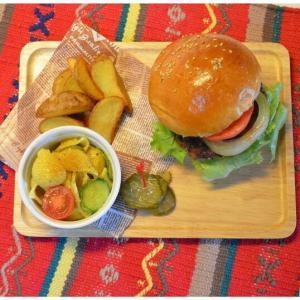 ACACIA WOODEN PLATE Lサイズ ホワイトウッドトレーペントレーコイントレースタッキングインテリアキッチン用品カフェおやつ木目の風合いピクニック|bricbloc