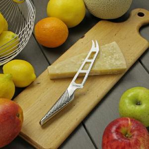 吉田金属工業GLOBAL GS-10 チーズナイフ14cmキッチン用品インテリアギフトオールステンレスの刀身と柄を一体化した構造両刃右利き左利き兼用デザイン包丁機能性|bricbloc
