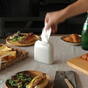 DUENDE PICCOLAライトベージュティッシュケースリビングキッチンパウダールーム本棚ギフト プレゼントインテリア丸みを帯びた柔らかなフォルム|bricbloc
