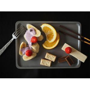 ACACIA WOODEN PLATE Lサイズ グレーウッドトレーペントレーコイントレースタッキングインテリアキッチン用品カフェおやつ木目の風合いピクニックサンドウィッチ|bricbloc