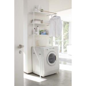 立て掛けランドリーシェルフ タワー ホワイト/ブラック壁面に立て掛けるだけのランドリーシェルフタオルや洗濯小物の収納、ストックに便利です。一時干しに。|bricbloc