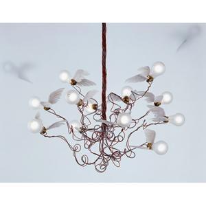INGO MAURER / インゴ マウラーBirdie(バーディー)ペンダントランプ天使のような電球がはばたくアートのような照明ドイツの照明デザイナーお取り寄せ商品|bricbloc