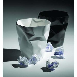 essey Mini BinBin Whiteダストボックスゴミ箱インテリアクシャクシャに潰された表面アートなゴミ箱エコ素材であるポリエチレン製ギフト観葉植物の鉢カバー|bricbloc