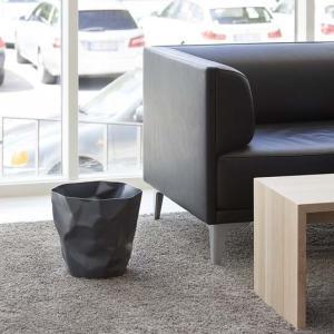 essey Mini BinBin Blackダストボックスゴミ箱インテリアクシャクシャに潰された表面アートなゴミ箱エコ素材であるポリエチレン製ギフト観葉植物の鉢カバー bricbloc 03