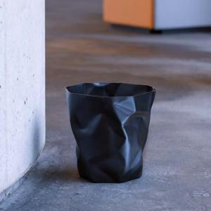 essey Mini BinBin Blackダストボックスゴミ箱インテリアクシャクシャに潰された表面アートなゴミ箱エコ素材であるポリエチレン製ギフト観葉植物の鉢カバー bricbloc 04
