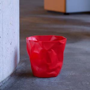 essey Mini BinBin Blackダストボックスゴミ箱インテリアクシャクシャに潰された表面アートなゴミ箱エコ素材であるポリエチレン製ギフト観葉植物の鉢カバー bricbloc 05