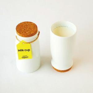 224porcelainMilk cupコルク製コースター付きの牛乳専用コップキッチン用品インテリアギフト プレゼント磁器陶磁器・肥前吉田焼 bricbloc