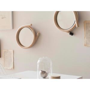 wawa ミラー(マキ)籐のウォールミラー 壁掛けミラー インテリア 送料無料 籐製品加工メーカー ツルヤ商店 トラフ建築設計事務所 ギフト プレゼント 鏡 bricbloc