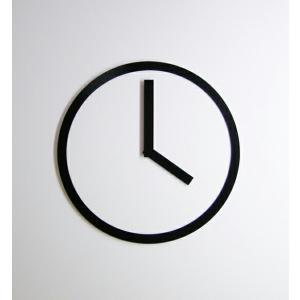 PICTO CLOCK BLACK ピクトクロック ブラック AIR FRAME / エアフレームウォールクロック 壁掛時計アクリル板ピクトグラムインテリアギフト プレゼント受注生産品|bricbloc