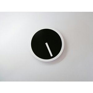 PICTO CLOCK BLACK ピクトクロック ブラック AIR FRAME / エアフレームウォールクロック 壁掛時計アクリル板ピクトグラムインテリアギフト プレゼント受注生産品|bricbloc|03