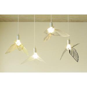 Bird Light Goldバード ライト(ゴールド)ケーブル長さ50cm鳥の照明インテリア天井照明ペンダントライト金属板から切り抜かれた繊細で美しい羽を持つ鳥|bricbloc