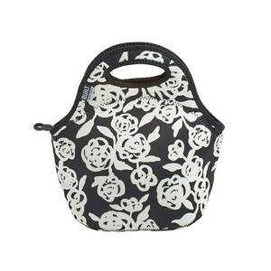 8096BUILT/BLT ゴウメットバッグ ガーデンローズ ブラック&ホワイト ランチバッグ 保温保冷スタイリッシュのバッグランチタイムアウトドアインテリア雑貨|bricbloc