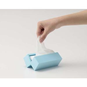 Haco Mini Tissue Case(ブルー)マグネットを使用することでヒンジをなくした コンパクトでスッキリとしたポケットティッシュケース|bricbloc