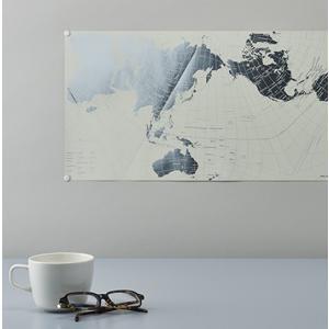 PLATINUM AuthaGraph WORLD MAP  プラチナ オーサグラフ世界地図 三角地球儀と四角い地図面積が極力正しいオーサグラフ図法を用いた世界地図です。|bricbloc