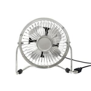 "KIKKERLAND USB Desk Fan ""Silver""USB デスクファン""シルバー""USBに差し込むと動作するデスクファン|bricbloc|02"