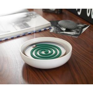KATORI POT WHITE 蚊取り用ポット ホワイト 巻蚊取り線香専用 陶器製|bricbloc|04