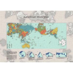 AuthaGraph World Map ポスター|bricbloc