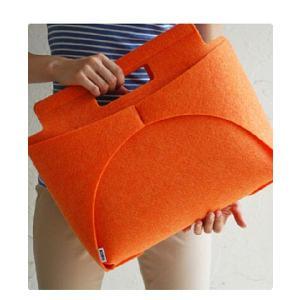 MOCO BAG /orange  手提げバッグ トートバッグ  印デザイン ファッション|bricbloc