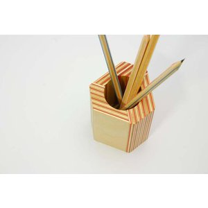 PAPER-WOOD PEN STAND|bricbloc