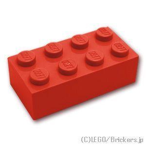 レゴ パーツ ばら売り ブロック 2 x 4:レッド | lego 部品...