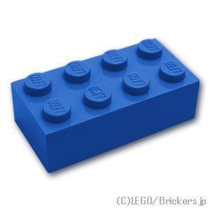 レゴ パーツ ばら売り ブロック 2 x 4:ブルー | lego 部品...